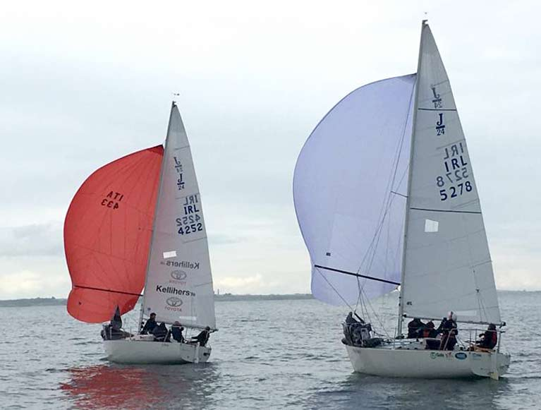 2. J24 Easterns Jibe ahead of Gala Racing
