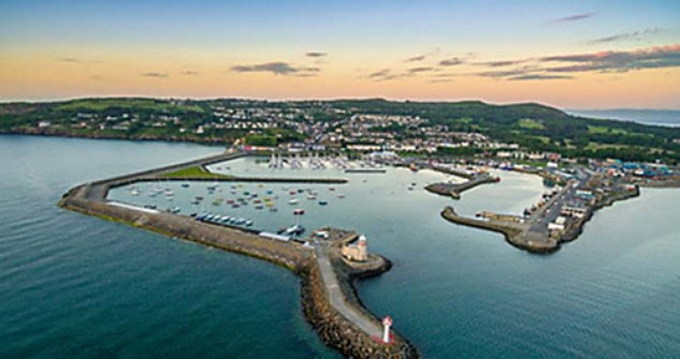 Howth Harbour and Marina in north County Dublin