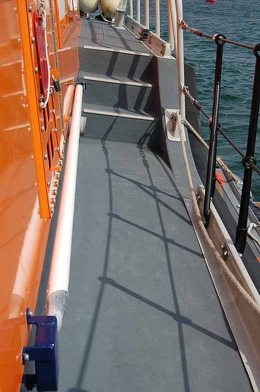 ACHILL LIFEBOAT WHITE POLE ON PORT SIDE