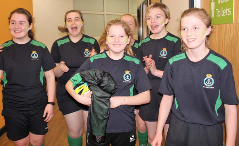 Bangor Sea Cadets Girls at national football competition