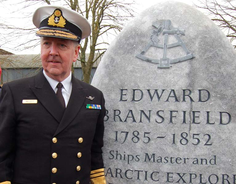 CHIEF OF THE DEFENCE FORCES VICE ADMIRAL MARK MELLETT AT THE BRANSFIELD MEMORIAL