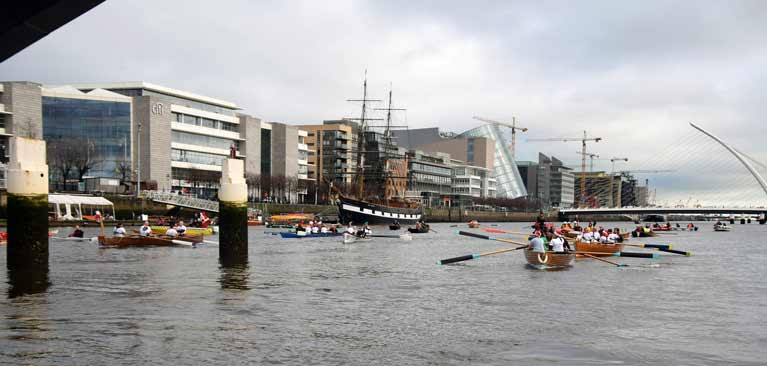 Liffey rowing boats