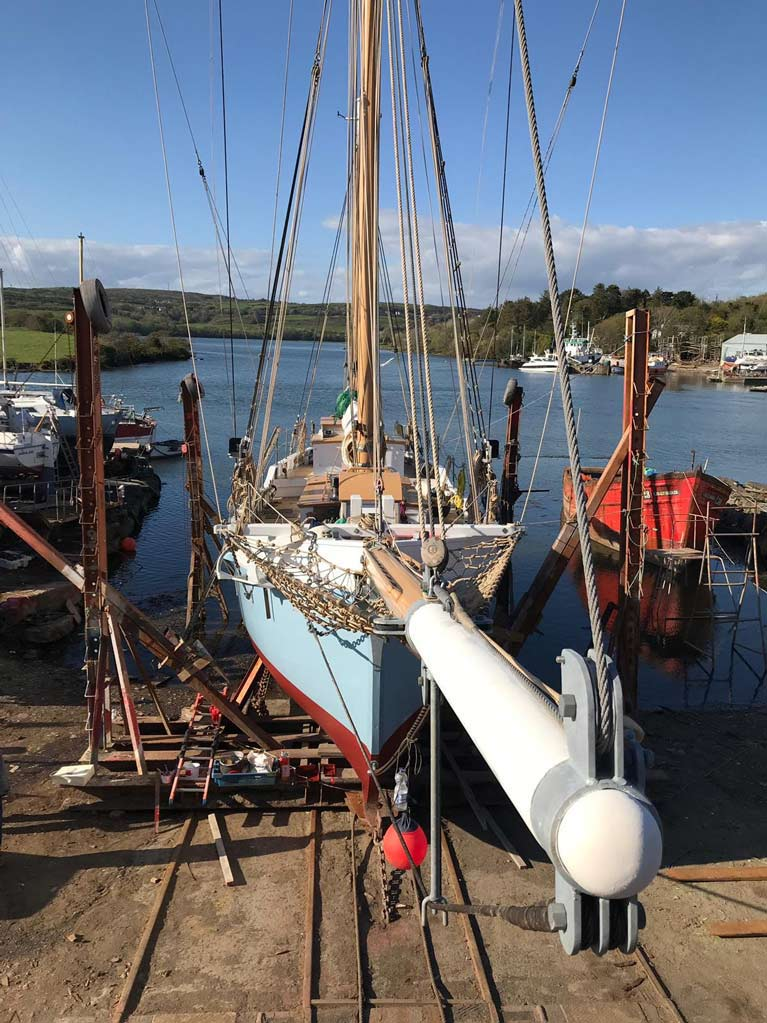 ILEN AT HEGARTYS BOATYARD