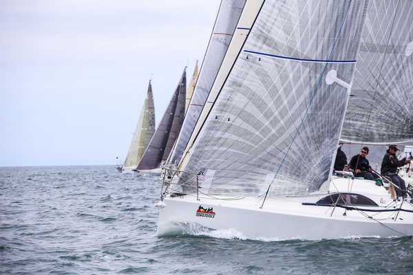 00a87f4ab2848a Competitive starts and finishes. Class one (above) gets away in race four  on Sunday lunchtime and (below) a bow to stern class two finish between  Tribal ...
