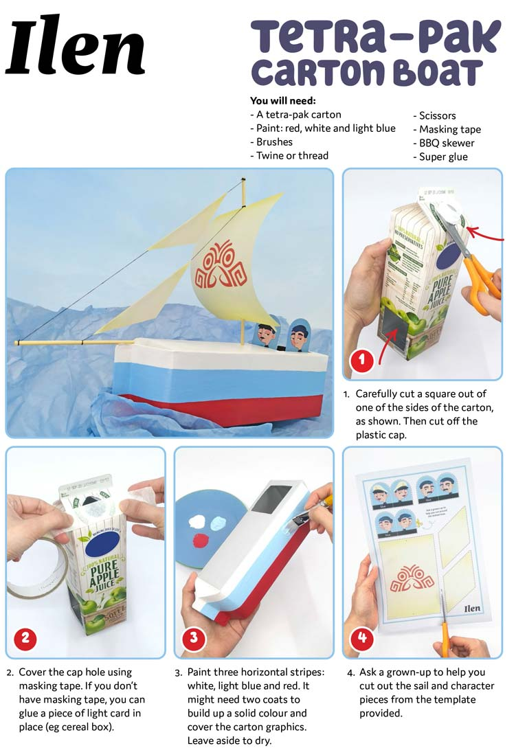 Ilen tetra pak boat craft for kids3 1
