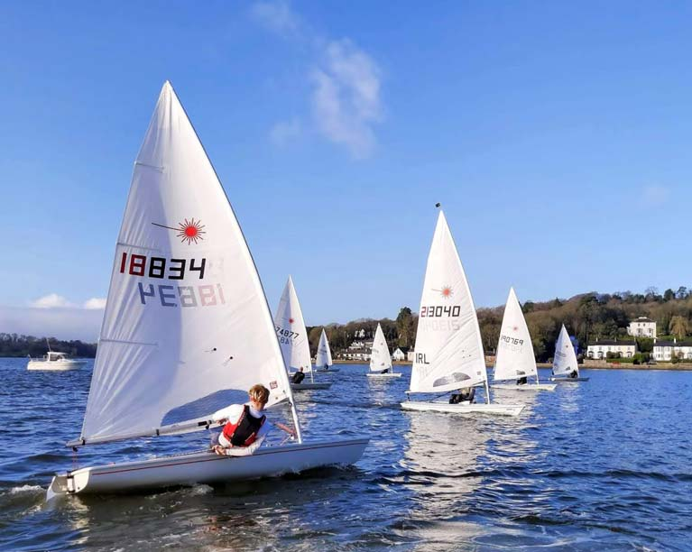 Laser dinghy racing