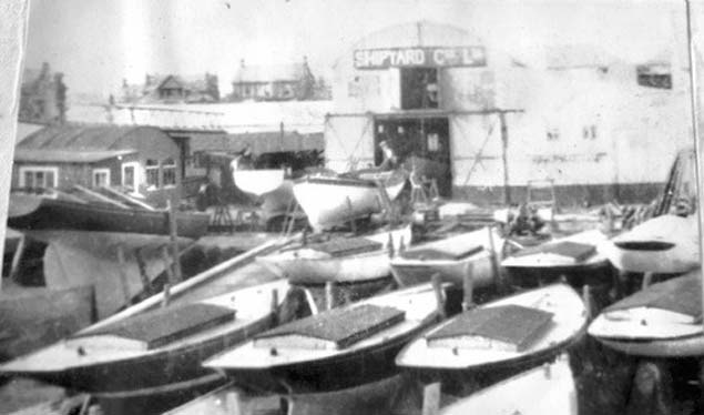 Lovetts Shipyard Lts. showing Rivers in winter storage