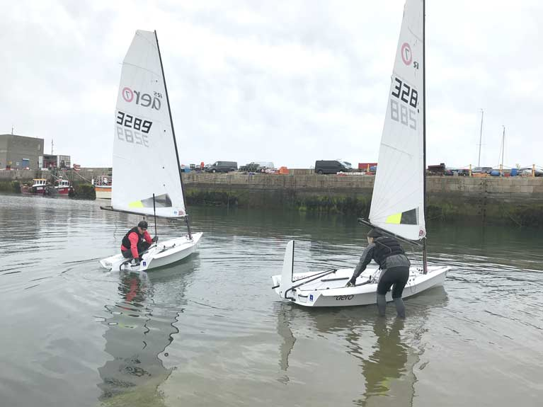 Noel Butler and Stephen Oran get afloat for the first time