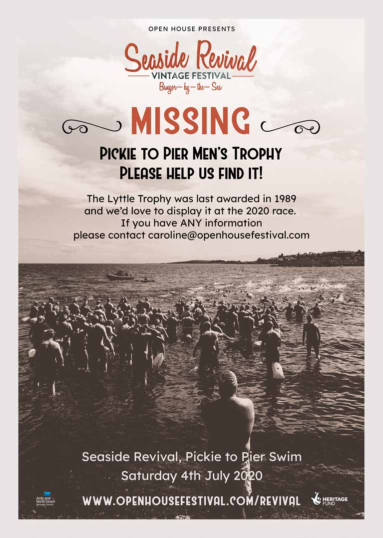 Pickie to Pier poster re missing trophy