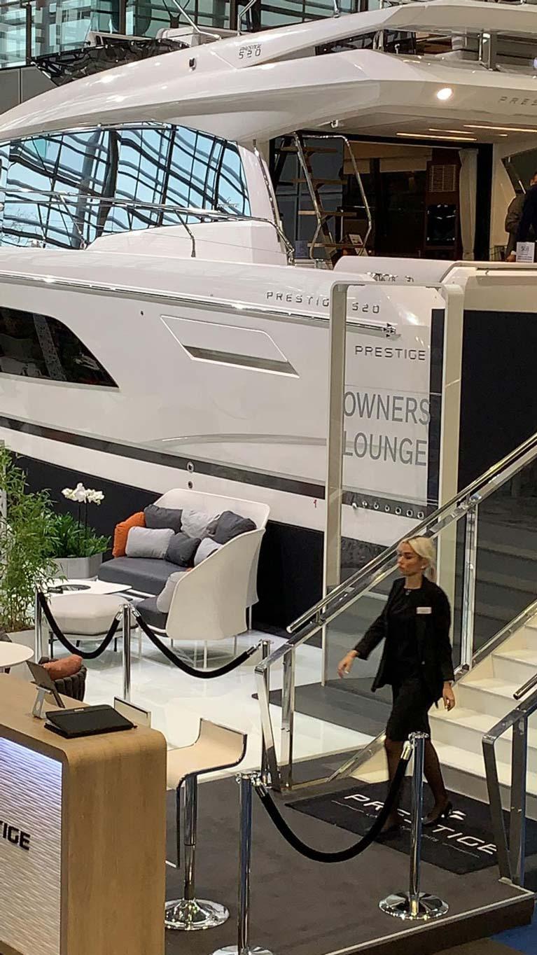 MGM Boats à portée de main pour le lancement du Prestige X70 au Boot Dusseldorf