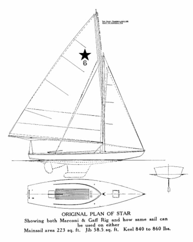 STAR KEELBOAT ORIGINAL PLAN