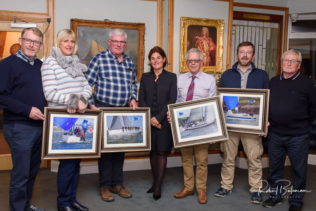 SCORA prizewinners with Commodore Johanna Murphy (centre) Photo: Bob Bateman