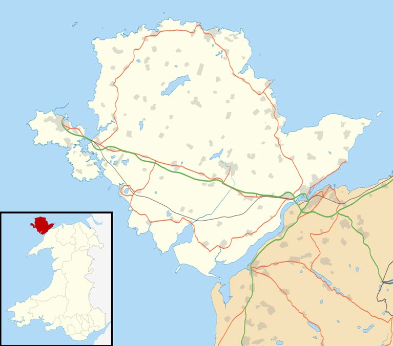 Isle of Anglesey UK location map