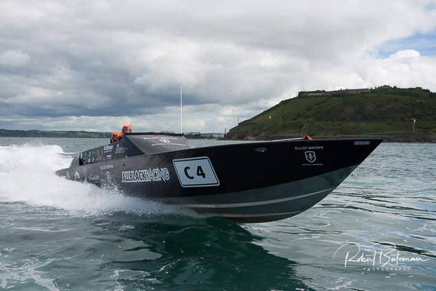 all black cork harbour powerboat