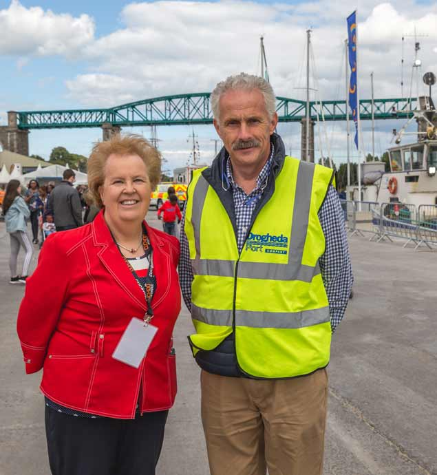 The Festival's Colette Moss and Capt Martin Donnelly of Drogheda Port