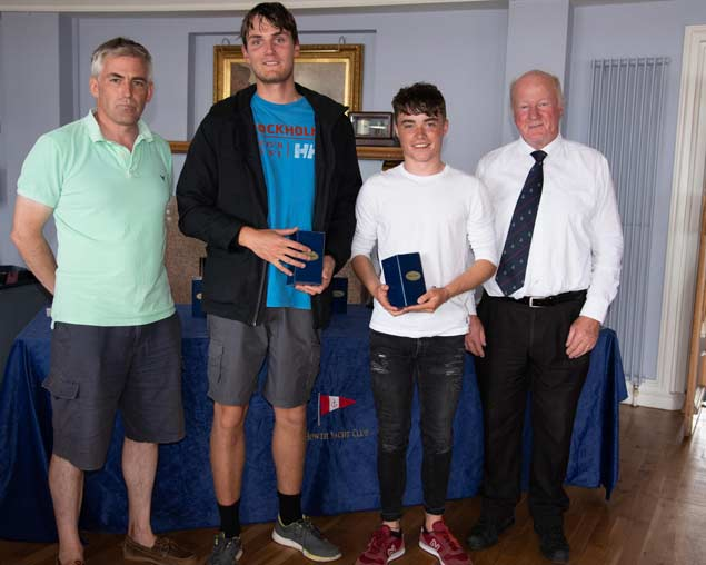 420 Nats 2nd silver Cian Lynch and Daniel Thompson Wexford Harbour Boat and Tennis Club