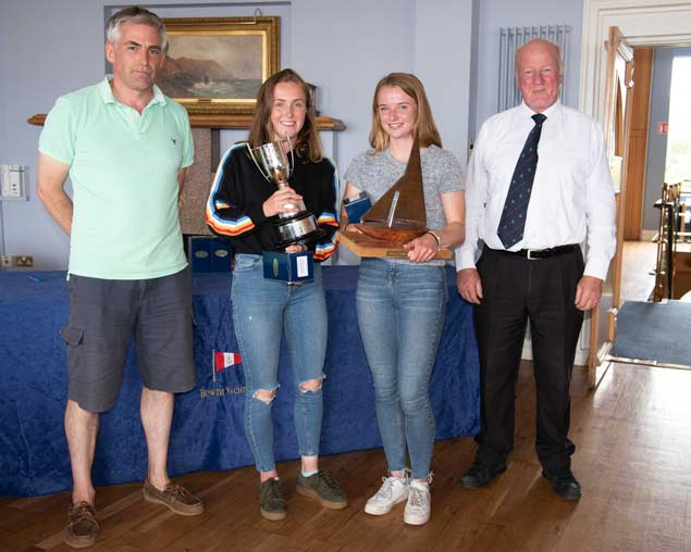 420 Nats 2rd Gold Irish National Champions and Irish Sailing Gold medailists Grace OBeirne and Kathy Kelly Royal St George Yacht Club Yacht Club