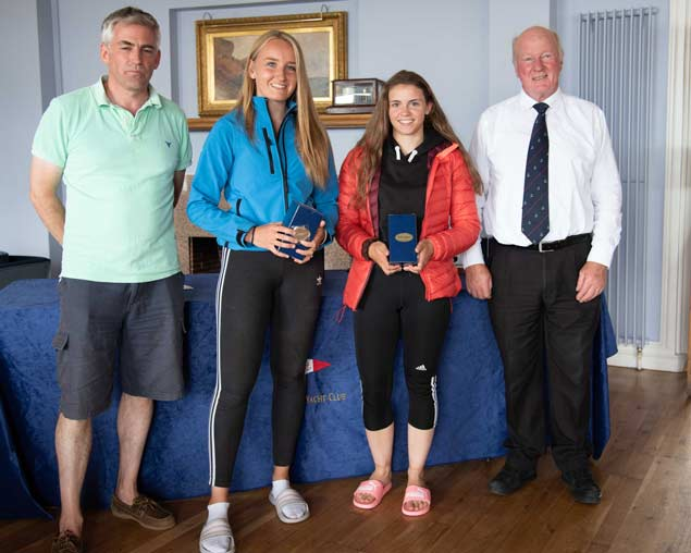 420 Nats 3rd Gold and Irish Sailing Silver medailists Gemma Mc Dowell and Emma Gallagher Malahide Yacht Club