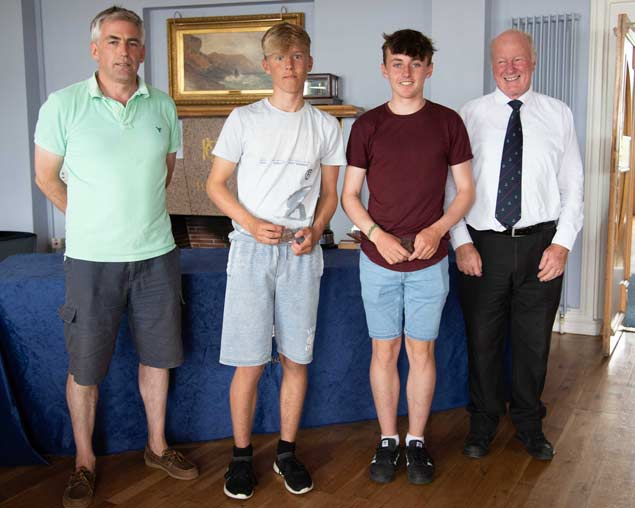 420 Nats 4th Gold and Irish Sailing Bronze medailists Micheal OSuilleabhain and Rob Keal Kinsale Yacht Club