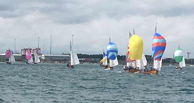 Dublin Bay Mermaid racing at Clontarf Yacht & Boat Club