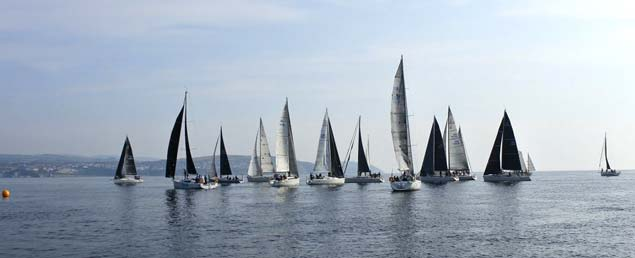 Race eight pres start manouvers for the ISORA fleet