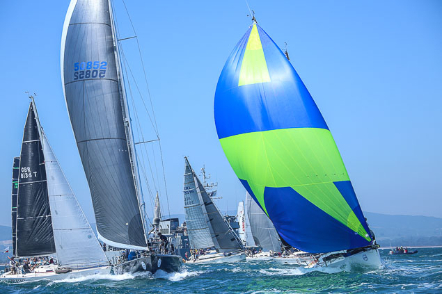 Round Ireland race start Rockabill 3768