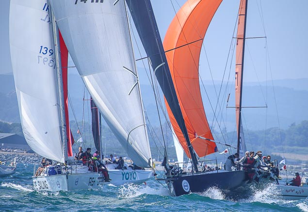 Round Ireland race start fleet 3794
