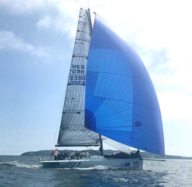 Signal 8 on her way to winning IRC 0 Flying her North Sails A3 Asymmetric and Spinnaker Staysail 1