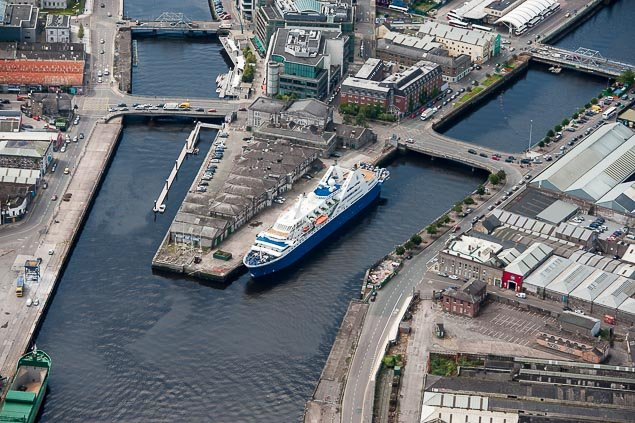 A ship berthed upriver at the Port of Cork at Custom House Quay Photo: Bob Bateman