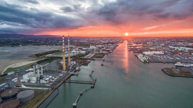 dublin port sunset8