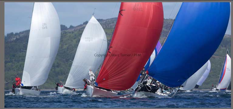 Chimaera Leading Scottish Series with her red SK 90 A4 Kite