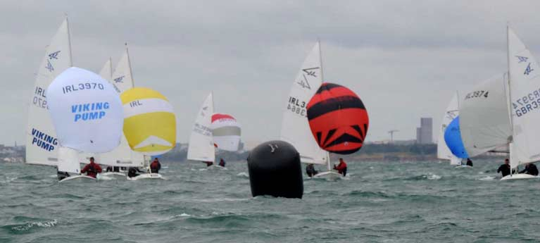 Flying fifteen spinnakers