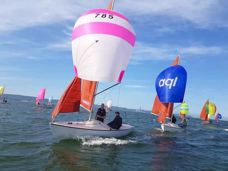Squib spinnakers