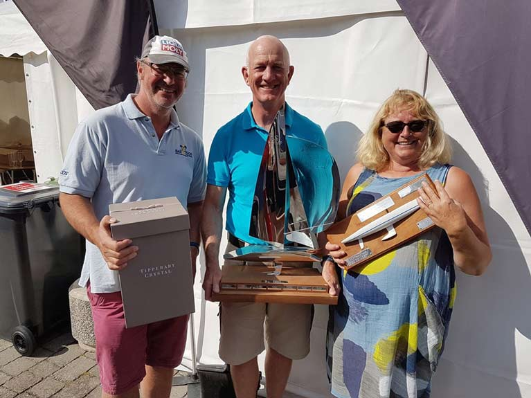 Simon Childs Mike McIntyre and Caroline McIntyre retain their title as RS Elite National Champions