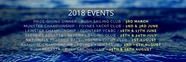 2018 Event calendar email banner