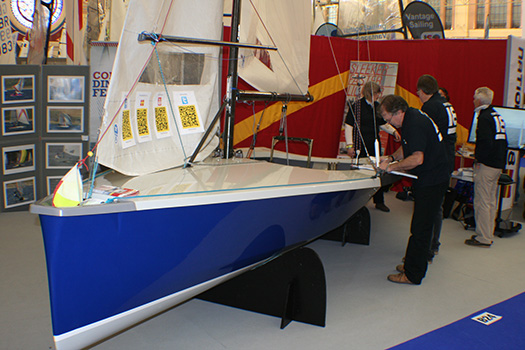 f5fbaa09a7b Hurricane (number 406) is unveiled a fortnight ago at the Dinghy Show.
