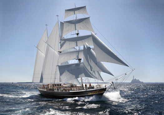 Atlantic Youth Trust tall ship concept