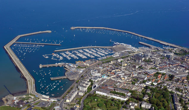 Dun Laoghaire Harbour Aerial