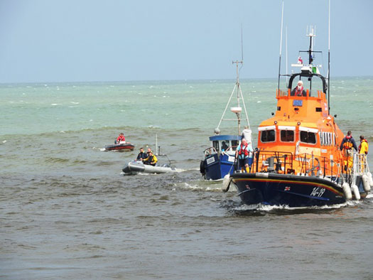 Arklow lifeboat festival rescue