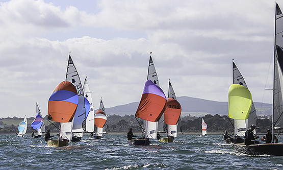 Autumn Open spinnakers downwind