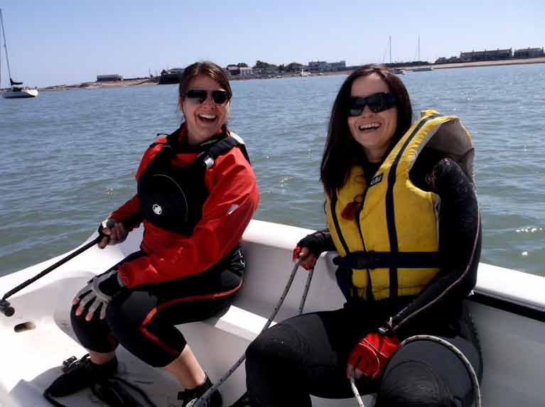 Brid Grimes and Cera Slevin at Just Sailing