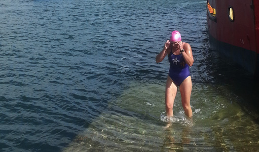 Carol Cashell will swim around Bere Island