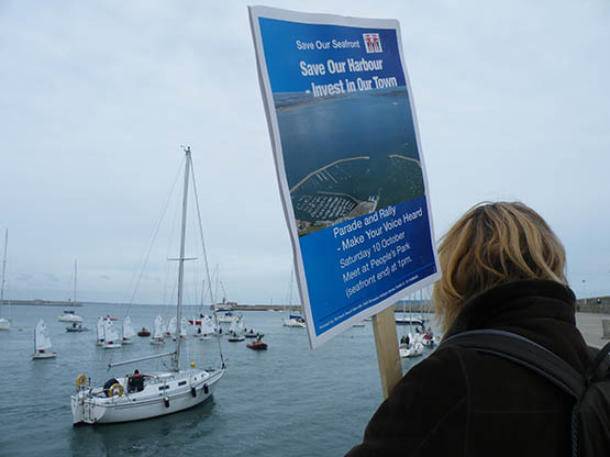 Dun Laoghaire harbour protest against cruise berth