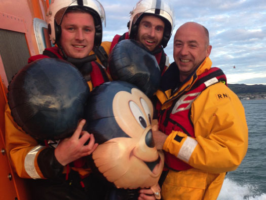 Dun Laoghaire RNLI with Mickey Mouse
