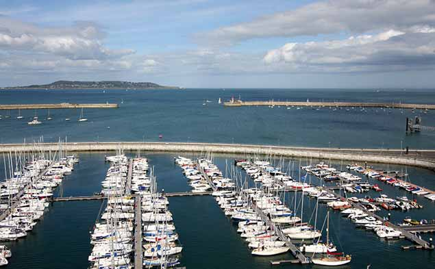 Dun Laoghaire harbour marina