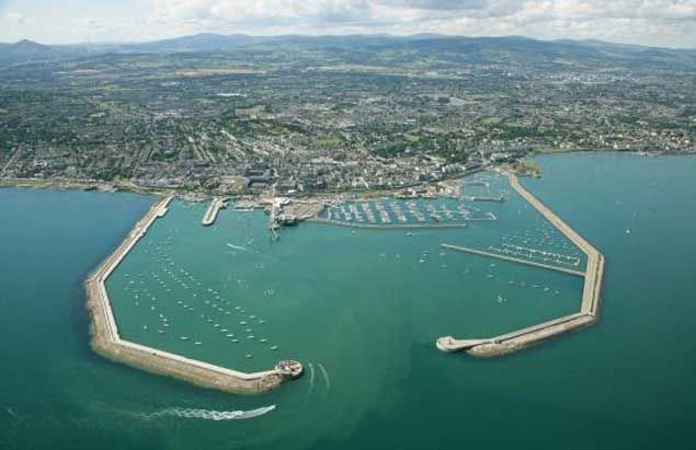 Dun laoghaire harbour aerial 5