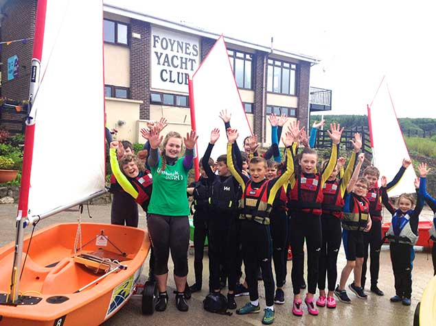 Foynes yacht club youth sailors
