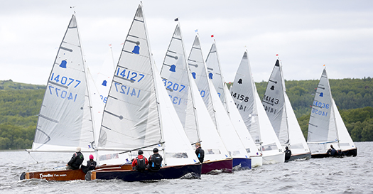 GP14 dinghy sailing