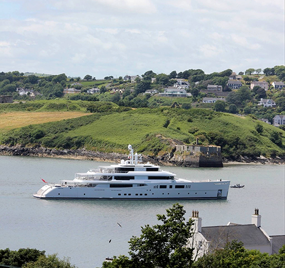 Grace E Kinsale yacht club superyacht