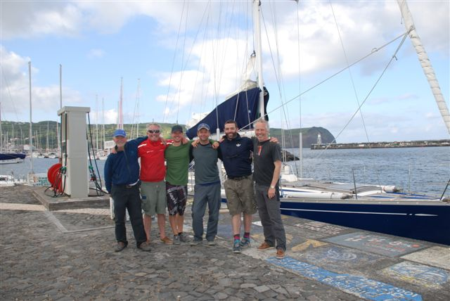 Happy crew at Horta Azores